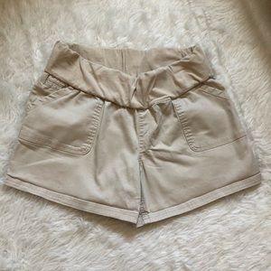Liz Lange Beige Maternity Shorts Medium